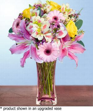 Anneme hediye karisik cam mevsim demeti  Bitlis internetten çiçek siparişi