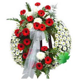 Cenaze çelengi cenaze çiçek modeli  Bitlis uluslararası çiçek gönderme