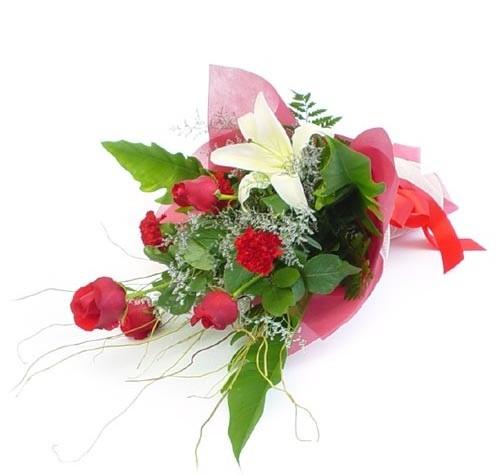 Mevsim çiçeklerinden karisik buket  Bitlis cicek , cicekci
