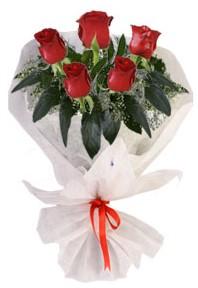 5 adet kirmizi gül buketi  Bitlis çiçekçiler