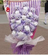 11 adet pelus ayicik buketi  Bitlis çiçek gönderme sitemiz güvenlidir