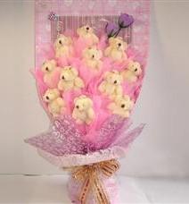 11 adet pelus ayicik buketi  Bitlis çiçek yolla
