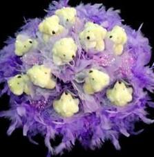 11 adet pelus ayicik buketi  Bitlis çiçek , çiçekçi , çiçekçilik