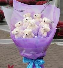 11 adet pelus ayicik buketi  Bitlis ucuz çiçek gönder