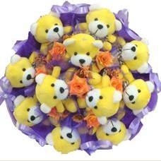 11 adet pelus ayicik buketi  Bitlis çiçek mağazası , çiçekçi adresleri
