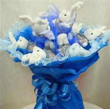 7 adet pelus ayicik buketi  Bitlis çiçek , çiçekçi , çiçekçilik