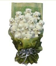11 adet pelus ayicik buketi  Bitlis online çiçek gönderme sipariş