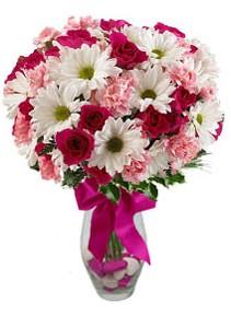 Bitlis çiçek siparişi sitesi  Karisik mevsim kir çiçegi vazosu