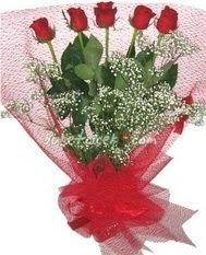 5 adet kirmizi gülden buket tanzimi  Bitlis çiçek yolla