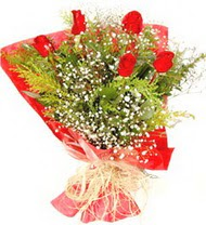 Bitlis anneler günü çiçek yolla  5 adet kirmizi gül buketi demeti