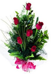 Bitlis güvenli kaliteli hızlı çiçek  5 adet kirmizi gül buketi hediye ürünü