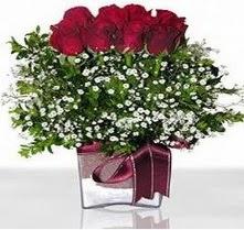 Bitlis internetten çiçek satışı  mika yada cam vazo içerisinde 7 adet gül