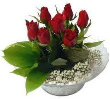 Bitlis internetten çiçek satışı  cam yada mika içerisinde 5 adet kirmizi gül