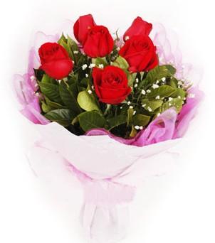 Bitlis hediye sevgilime hediye çiçek  kırmızı 6 adet gülden buket