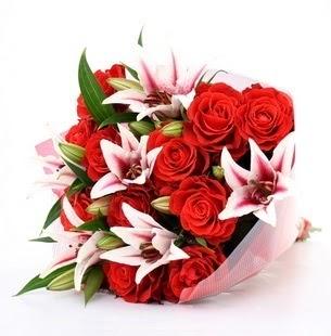 Bitlis çiçek siparişi vermek  3 dal kazablanka ve 11 adet kırmızı gül