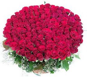 Bitlis online çiçekçi , çiçek siparişi  100 adet kırmızı gülden görsel buket