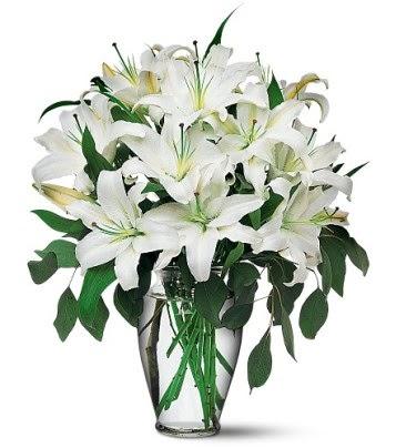 Bitlis internetten çiçek satışı  4 dal kazablanka ile görsel vazo tanzimi