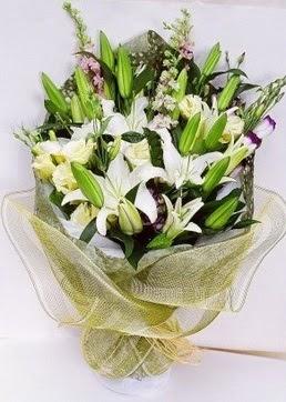 Bitlis çiçek servisi , çiçekçi adresleri  3 adet kazablankalardan görsel buket çiçeği