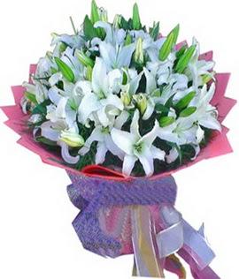 7 dal cazablanca görsel buketi  Bitlis çiçekçi mağazası