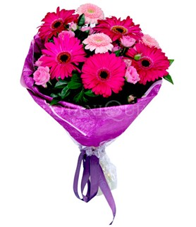 Bitlis çiçek siparişi sitesi  karışık gerbera çiçeği buketi