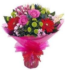 Karışık mevsim çiçekleri demeti  Bitlis online çiçek gönderme sipariş