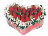 Bitlis çiçekçi telefonları  mika kalpte kirmizi güller 9