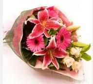 1 dal kazablanka ve mevsim çiçekleri  Bitlis internetten çiçek siparişi