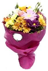 1 demet karışık görsel buket  Bitlis anneler günü çiçek yolla
