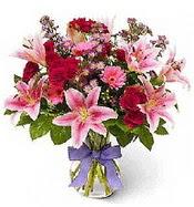 Vazo içerisinde karışık mevsim çiçeği  Bitlis çiçek siparişi sitesi