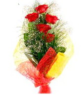 5 li kırmızı gül buketi  Bitlis internetten çiçek satışı