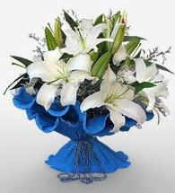 4 dal kazablanka çiçeğinden buket  Bitlis cicek , cicekci