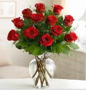 Vazo içerisinde 12 kırmızı gül  Bitlis çiçek satışı