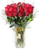 27 adet vazo içerisinde kırmızı gül  Bitlis İnternetten çiçek siparişi