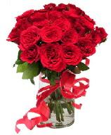 21 adet vazo içerisinde kırmızı gül  Bitlis çiçek satışı