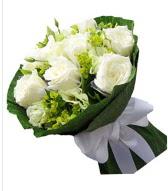 9 adet beyaz gül buketi  Bitlis çiçek siparişi sitesi