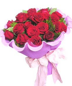 12 adet kırmızı gülden görsel buket  Bitlis çiçekçi mağazası