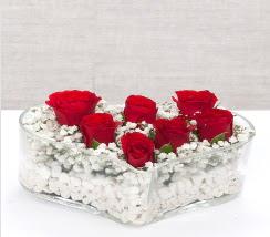 kalp içerisinde 7 adet kırmızı gül  Bitlis çiçek siparişi vermek