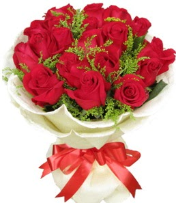 19 adet kırmızı gülden buket tanzimi  Bitlis çiçek servisi , çiçekçi adresleri