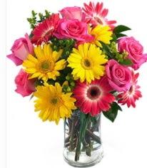 Vazoda Karışık mevsim çiçeği  Bitlis çiçekçi mağazası