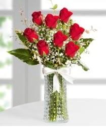 7 Adet vazoda kırmızı gül sevgiliye özel  Bitlis çiçek siparişi sitesi