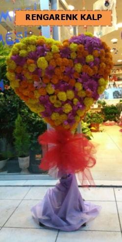 Ankara mevsim çiçeklerinden kalp perförje  Bitlis çiçekçi telefonları