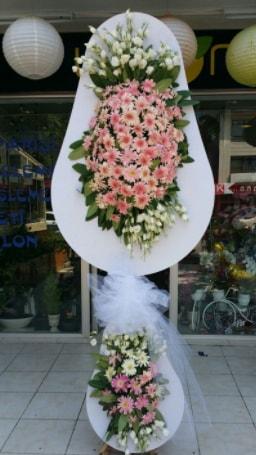 Çift katlı özel şahane sepet çiçeği  Bitlis çiçekçi telefonları