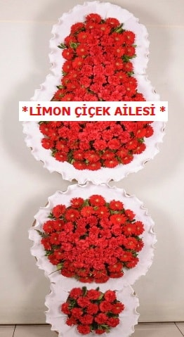 3 katlı kırmızı düğün açılış çiçeği  Bitlis çiçek gönderme