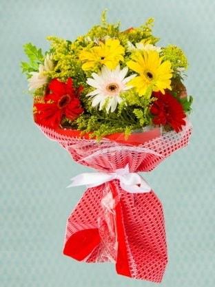 Karışık Gelbera Buketi  Bitlis çiçek siparişi sitesi