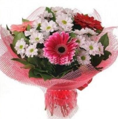 Gerbera ve kır çiçekleri buketi  Bitlis internetten çiçek siparişi