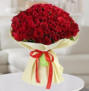 101 adet kırmızı gül buketi koca demet  Bitlis internetten çiçek siparişi