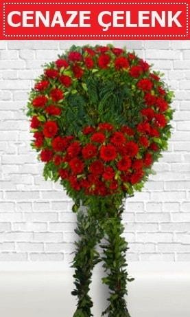Kırmızı Çelenk Cenaze çiçeği  Bitlis İnternetten çiçek siparişi