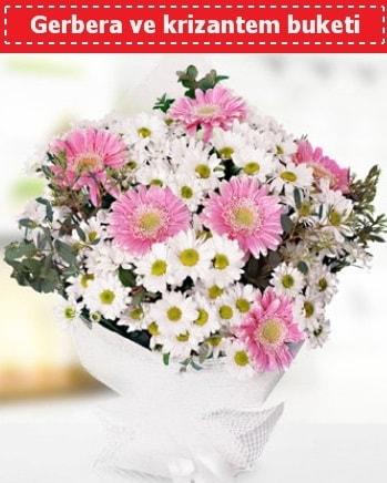 Papatya ve Gerbera Buketi  Bitlis çiçek , çiçekçi , çiçekçilik