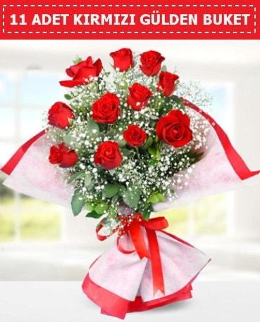 11 Adet Kırmızı Gül Buketi  Bitlis internetten çiçek siparişi