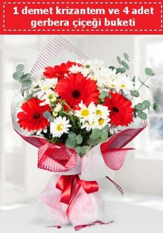 Krizantem ve Gerbera Buketi  Bitlis çiçek siparişi sitesi